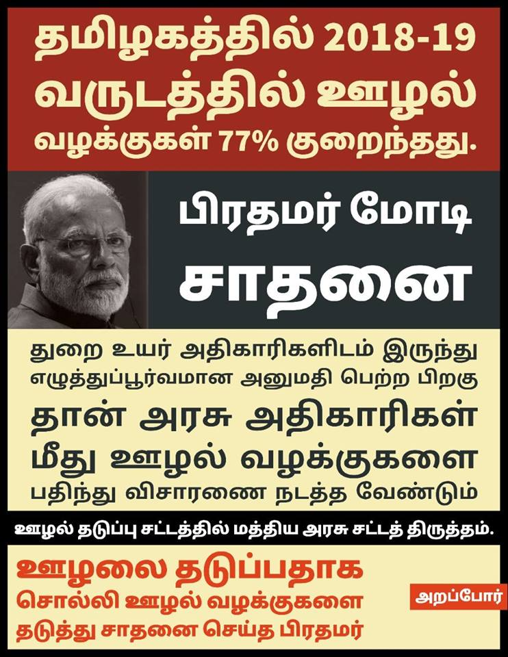 Modi reduced the corruption cases while increasing corruption