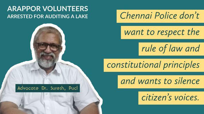 Letter to Chennai Commissioner - Adv. Dr. Suresh