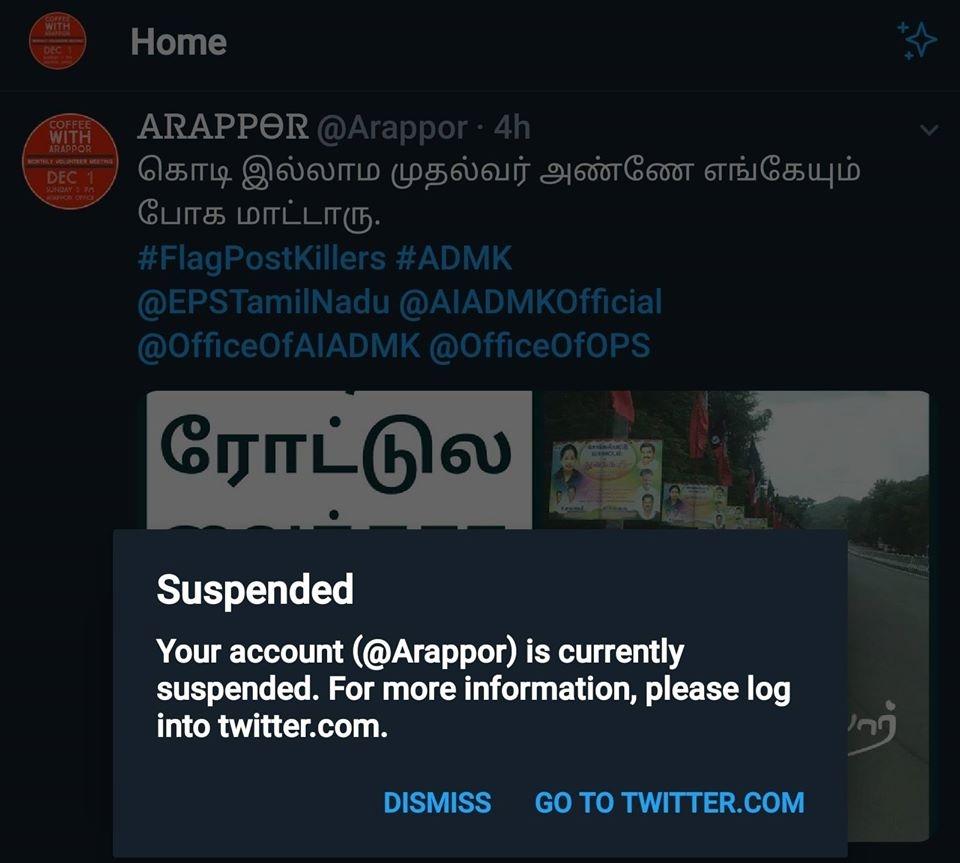Arappor faces Coordinated Attack on Social Media Platforms