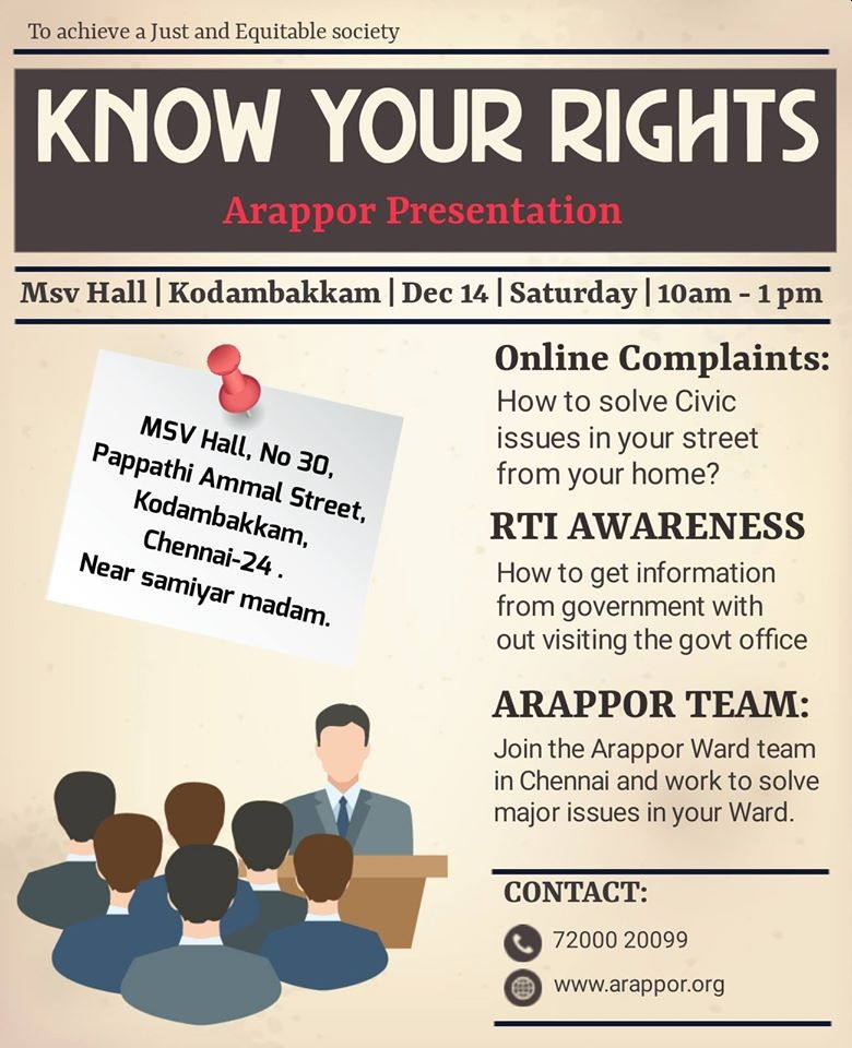 Know Your Rights on Dec 14th at MSV Hall