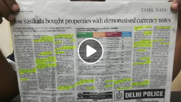 How Sasikala bought properties worth Rs 1674.50 crores using black money
